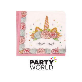 Pretty Unicorn Paper Beverage Napkins (12)