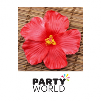 Hibiscus Flower Artificial Decorations Red (10)