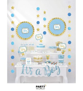 its a boy table decorating kit