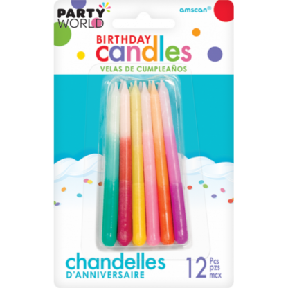 Coloured Ombre Candles (12)
