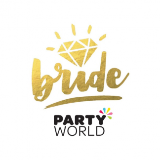 Bride Gold With Diamond Temporary Tattoo