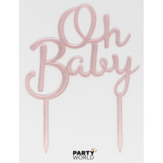 Oh Baby Pink Cake Topper