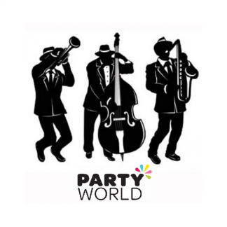 Jazz Band Trio Cardboard Cutouts (3)
