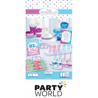 Gender Reveal Buffet Table Decorating Kit