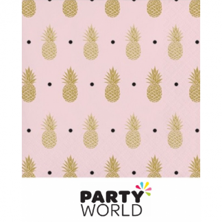 Pineapple Wedding Beverage Napkins Foil Stamped (16)
