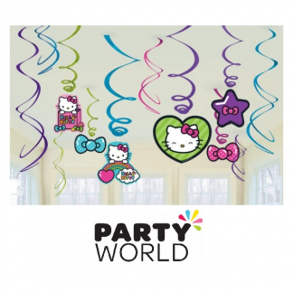 Hello Kitty Party Swirl Decorations (12)