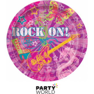 Rock On 9 inch Paper Plates (8)