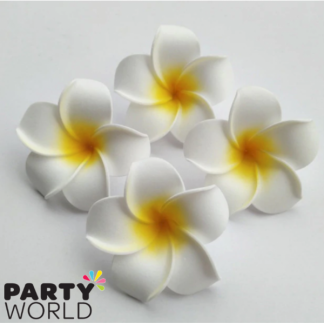 Hawaiian Flower Decoration - Plumeria / Frangipani Flower (10pk)
