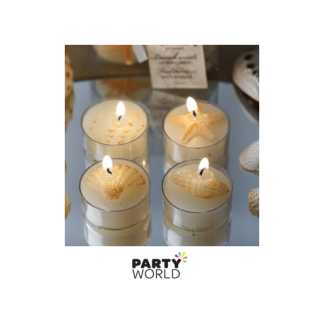 Seashell Tealight Candles (4)