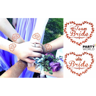 Bride Tribe & Bride Rose Gold Temporary Tattoos (20)