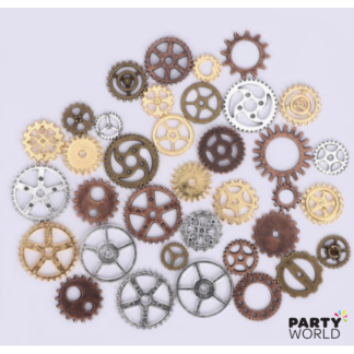 Metal Gears & Cogs Assorted Size (40)