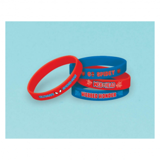 Ultimate Spiderman Party Rubber Bracelets (6)