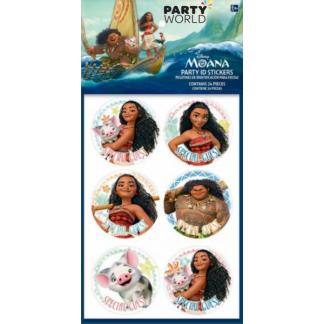 Moana Party ID Stickers (24)