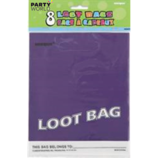 Purple Loot Bags (8)