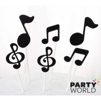 Musical Note Glitter Cupcake Toppers (12)
