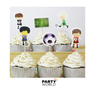 Soccer Party Cupcake Picks (24)