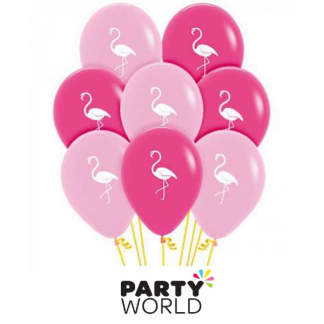 Flamingo Pink Assorted Latex Balloons (12)
