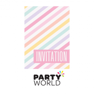 Pastel Stripes Party Invitations (8)