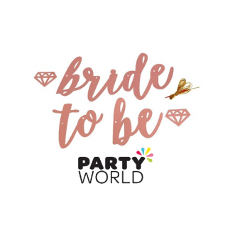 Bride To Be Rose Gold Letter Banner
