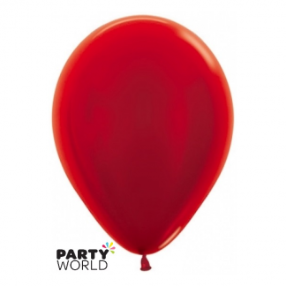 Sempertex 5inch Metallic Pearl Red Round Latex Balloons (50)