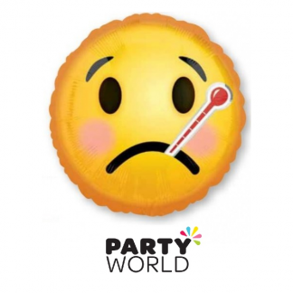 Get Well Emoticon Foil Balloon