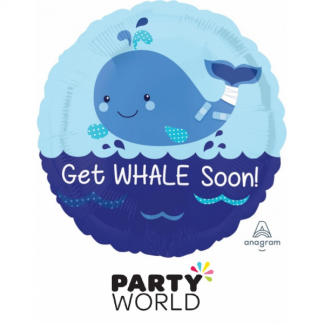 Get Whale Soon! Foil Shaped 46cm Balloon