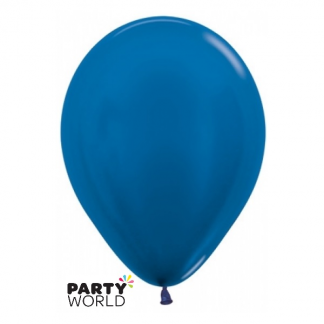 Sempertex Metallic Blue Latex 30cm Balloons (100)