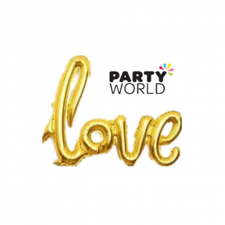 Gold 'Love' Foil Balloon