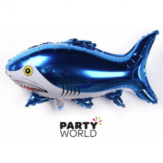 Shark Party Shaped Foil Balloon
