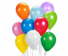 Plain Coloured Latex Balloons - Pack of 10-25