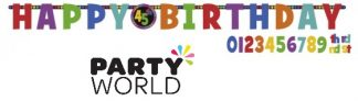 Birthday Dots & Stripes Age Banner