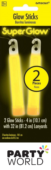 Glow Sticks Yellow 10cm (2)