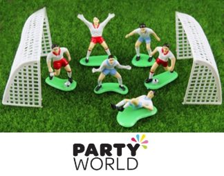 Soccer Party Game Set Cake Topper