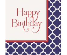 Hamptons Quatrefoil Birthday