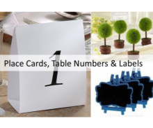 Wedding Table Place Cards, Numbers & Blackboards