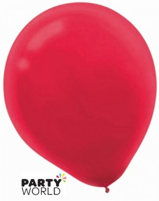 Apple Red 30cm Latex Balloons (15)