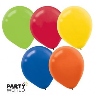 Assorted Colours 30cm Latex Balloons (15)