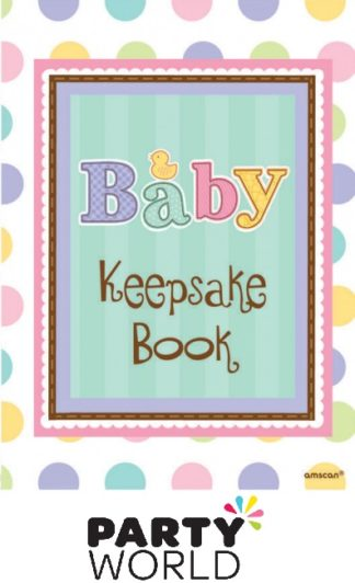 Baby Shower Tiny Bundle Keepsake Book