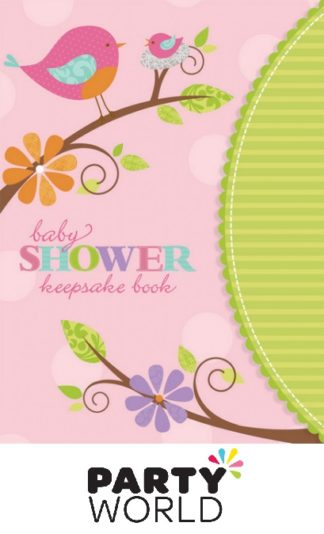 Baby Shower Tweet Baby Girl Keepsake Book