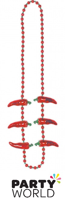 Fiesta Red Hot Chilli Pepper Necklace