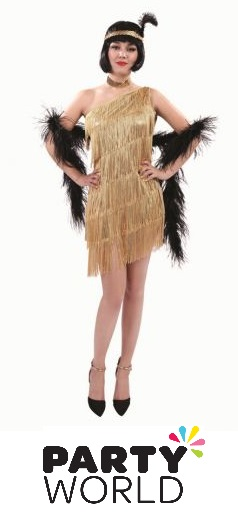 Flapper Gold Dress And Yellow Headband