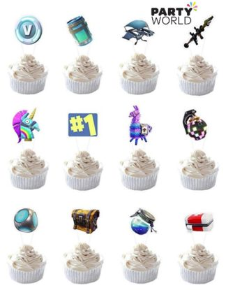 Fortnite Party Cupcake Toppers (12)