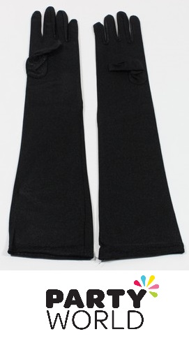 Gloves - Long Black Elbow Length