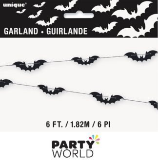 Halloween Black Bats Garland