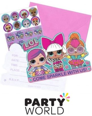 LOL Surprise Party Postcard Invitations (8)