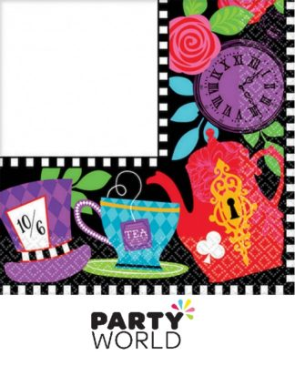 Mad Hatter Tea Party Beverage Napkins (16)