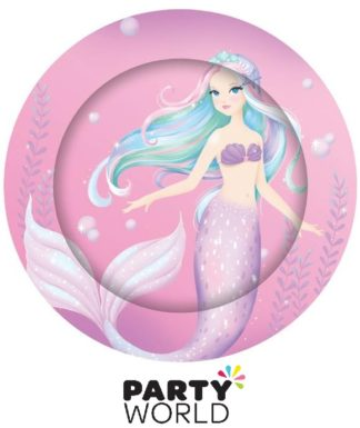 Mermaid Party Round Paper Plates (8)