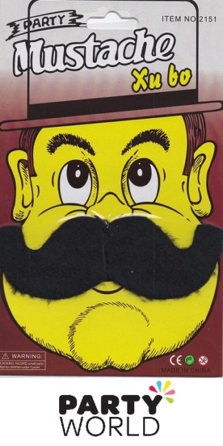 Moustache - Black Self Adhesive