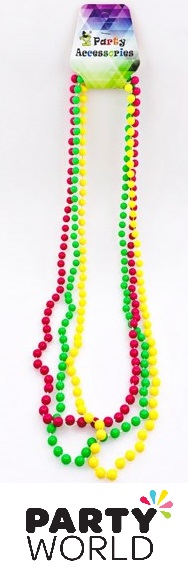 Neon Bead Necklace 8mm Round (3)