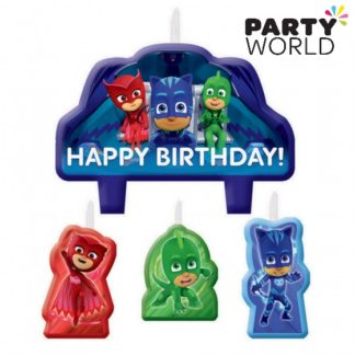 PJ Masks Birthday Candle Set (4)